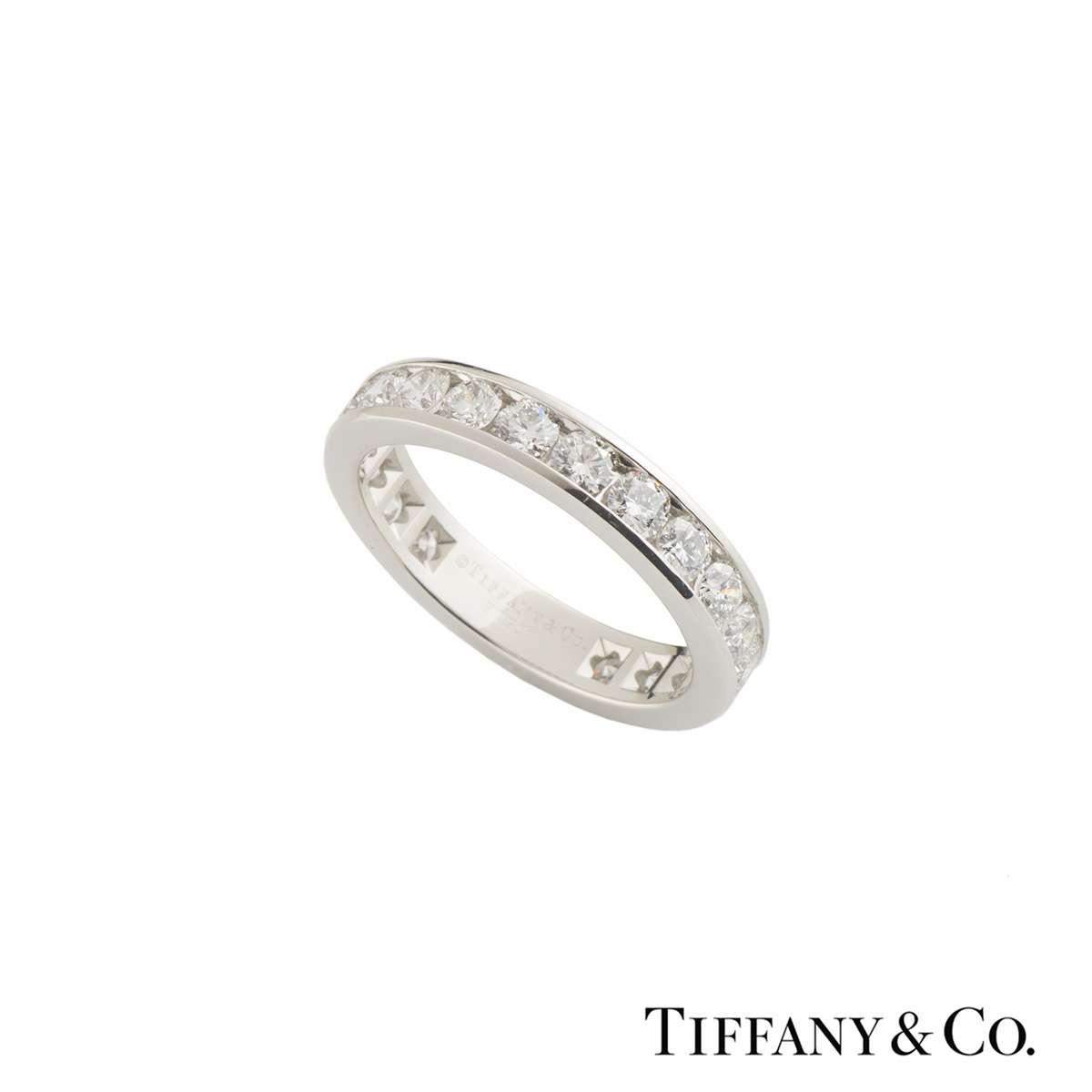 Tiffany & Co. Platinum Diamond Wedding Band 1.98ct G-H/VS2